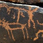 Rock Art myth research news. Cosmis Egg Creation rock art