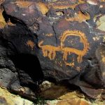 rock art research news. rock art sniffing dog fertility ritual
