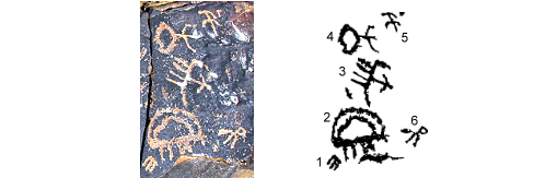 Rock Art archaeology news. tri-fingerd bird rock art Negev Desert
