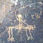 Rock Art astronomy news. comet rock art negev desert